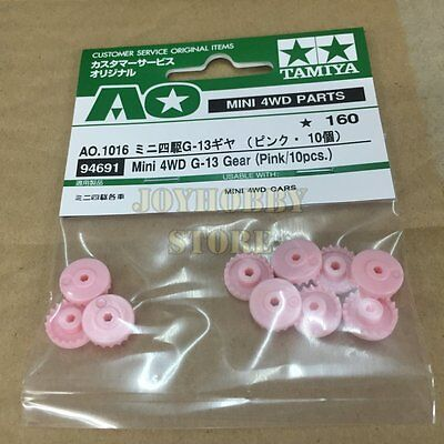 Pink//10pcs. Mini 4wd Pro G-13 Gear Tamiya 94691 AO-1016 New Nuovo