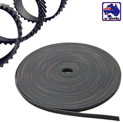 5m 2GT 6mm Rubber Pulley Timing Belt Black Opening 3D Printer EUPR26330x5m