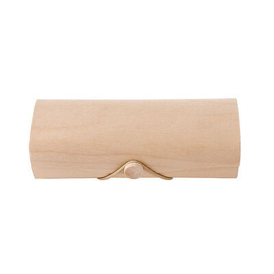 Portable Wooden Sunglasses Box Case Eye Glasses Protector Clam Shell