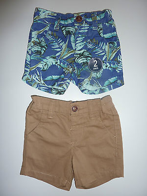 NEXT 2 Pairs Gorgeous Little Boys Shorts with Elasticated Waist NWT