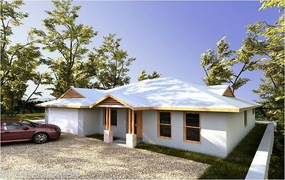 One Storey Plan -163, 4 Bedrooms -Size :163.8M2 INSULATED KIT HOMES
