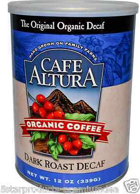 New Cafe Altura Organic Coffee Dark Roast Decaf Food Daily Healthy Breakfast