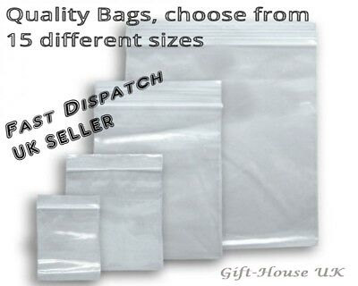Grip Seal Bags Small Clear Bags Plastic Baggy Self Seal Resealable Zip Lock B3