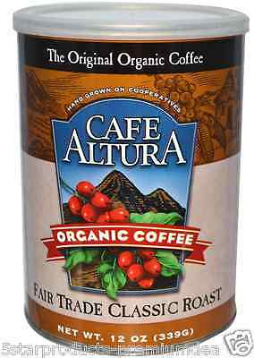New Cafe Altura Organic Coffee Fair Trade Classic Roast Daily Healthy Breakfast