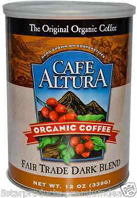 New Cafe Altura Organic Coffee Fair Trade Dark Blend Daily Healthy Breakfast