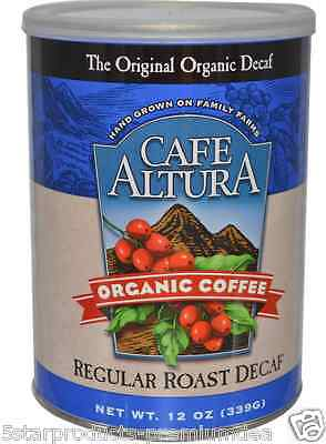 New Cafe Altura Organic Coffee Regular Roast Decaf Daily Healthy Food Breakfast