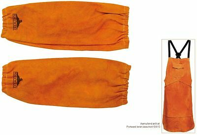 Welders Sleeves Apron Bizweld Cowhide Leather Stitched Protect Welding SW10/SW20