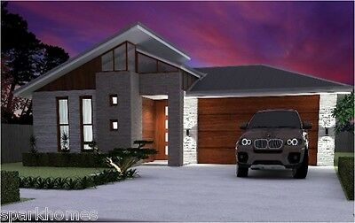 One Storey Plan 181, 4 Bedrooms - Size 182M2 TIMBER FRAME KIT