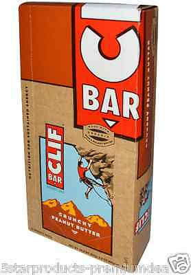 NEW CLIF BAR ENERGY CRUNCHY PEANUT BUTTER PROTEIN ORGANIC KOSHER NUTRITION 68 g