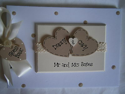 Personalised Wedding Guest Book/Photo Album Any Colour
