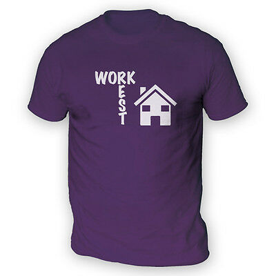 Work Rest House Music Mens T-Shirt -x13 Colours- Funny Dance Club DJ Chart
