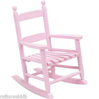 Knollwood Collection PINK Hardwood Classic Child's Porch Rocker Rocking Chair