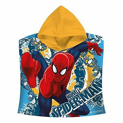 Official Spiderman Hooded Poncho Beach Towel Childrens Cotton Towel New