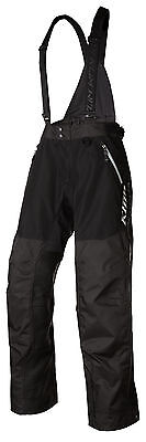 Klim Mens Black Havoc Non-Insulated Snowmobile Bibs Pants Snow Snocross 2018