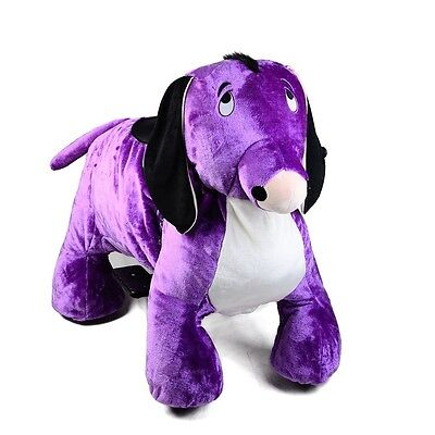 Coin Operated Electric Donkey Animal Scooter, Plush Mall Ride On Toy