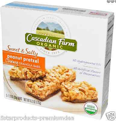New Cascadian Farm Organic Chewy Granola Bars Cereal Breakfast Food Body Care