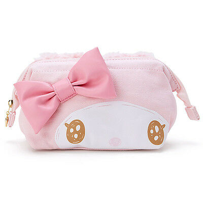 My Melody Face Canvas Pouch Glitter Soft ❤ Sanrio Japan