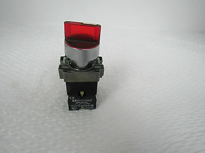 Telemecanique* Zb2-Be101 Contact Block W/ Red Selector Switch