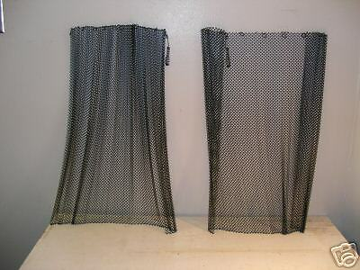 """Condor Fireplace Replacement HD Wire Mesh Screens 2 21/"""" H x  24/"""" W New"""