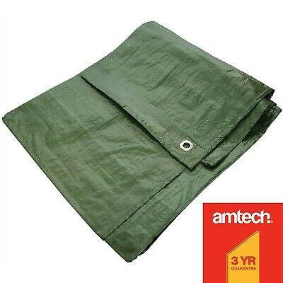 Green Heavy Duty Waterproof Tarpaulin Tarp Ground Sheet Light Weight Camping Cov