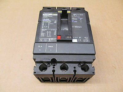 1 New Square D Hgl36020 Hgl Molded Case Circuit Breaker 3P 600V 20 Amp