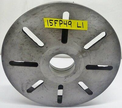 """15"""" Lathe Face Plate L1 Spindle Mount 2-1/4"""" Thickness"""