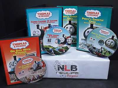 3 Thomas & Friends DVD Movies On Site With Thomas and more