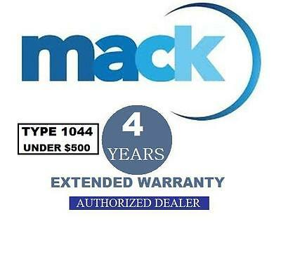 Mack 4 Year Extended Warranty (Type 1044) For Any Video Camera under $500