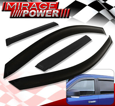 2008-2015 Mitsubishi Lancer Evolution Window Deflector Tape-On Shade Visor Vent