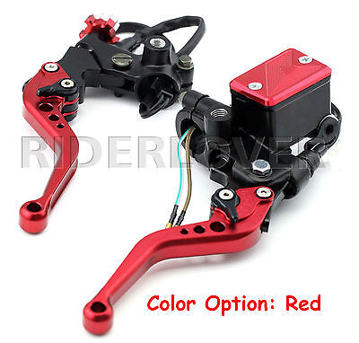 Clutch Brake Master Cylinder Reservoir Levers For Yamaha YZF-R125 2008-2015 Red