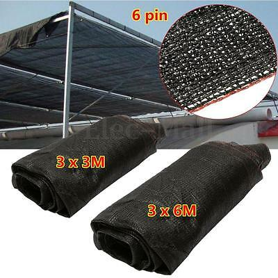 95% UV Black Sunshade Fabric Shade Cloth Greenhouse Garden Outdoor Shadecloth