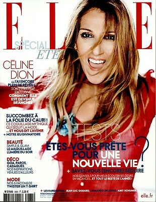 Celine Dion New French Elle Magazine France August 2016 Mag Encore Un Soir