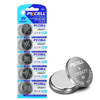 2pcs 3V CR2477 BR2477 DL2477 ECR2477 KCR2477 LITH32 Button Coin Cell Battery