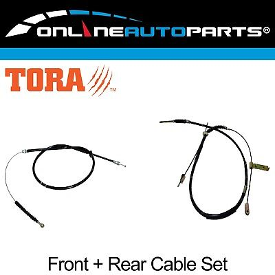 Front + Rear Park Hand Brake Cable Set Toyota Hilux LN106 1988-1999 4wd Ute