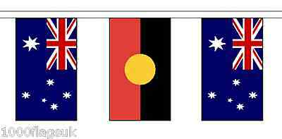 Australia Aboriginal & Australia Polyester Flag Bunting - 10m with 28 Flags