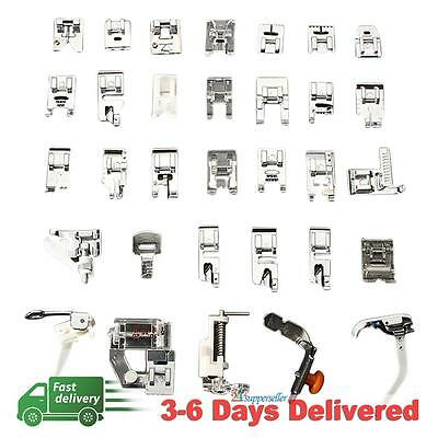 32pcs Domestic Sewing Machine Presser Foot Feet Set for Brother Janome Singer UK