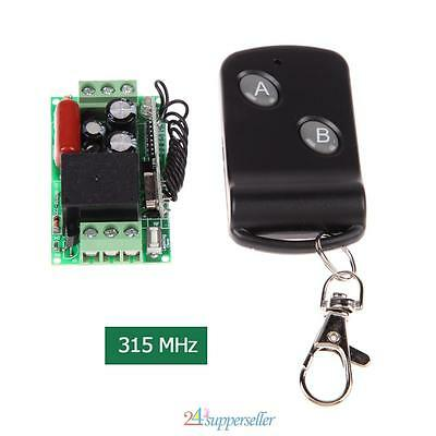 New 220V 10A 1CH Channel Wireless on off Relay Remote Control Switch RF 315MHz