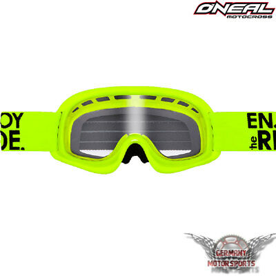 Kinder Brille Neon Gelb Oneal Motocross Fahrrad DH MTB FR MX QUAD Crossbrille