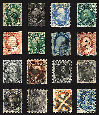 Classic Rare Stamp Lot US #11-#78a 19th Century VF Used 16 items