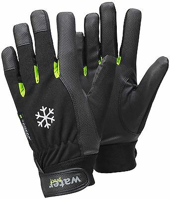 Tegera 517 Black Winter Lined Syn. Leather Gloves Wind and Waterproof Velcro