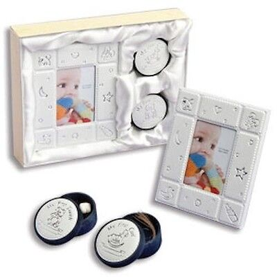 Baby Boy Girl Unisex First Frame First Tooth & First Curl Box Baby Gift Set NIB