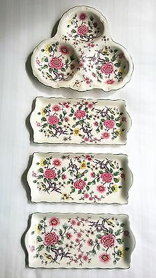 James Kent Ltd Old Foley Pottery Chinese Rose collection of 4 serving plates