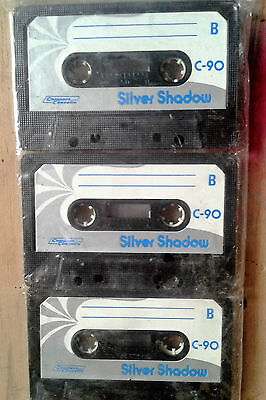 Silver Shadow C 90 Sealed Blank Audio Compact Cassette Tape C90