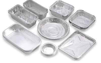 Aluminium Foil Food Containers + Lids Catering Restaurant Takeaway Multi Listing