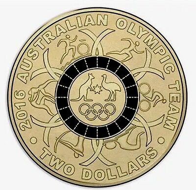 2016 Olympic $2 Coin Australian Two Dollars ### Black ## CHOICE Uncirculated Unc