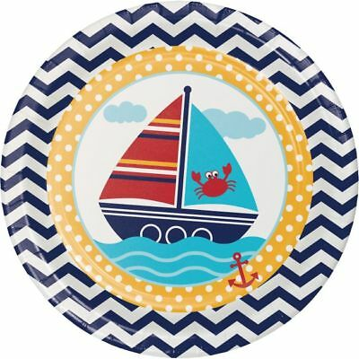 Ahoy Matey Baby Shower 9-inch Paper Plates 8 Per Pack