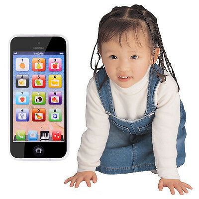 Kids Child IPhone Music Mobile Phone Study Educational Toy Gift + USB Cable