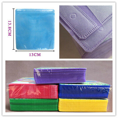 100Pcs Cover Storage Case Plastic Bag Sleeve Holder For CD DVD Disc