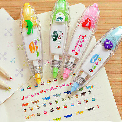 1PC Stationery Push Correction Tape Lace for Key Tags Sign Students Gifts