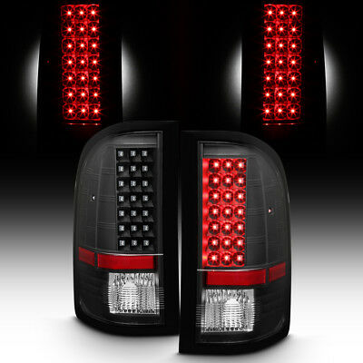 Blk 2007-2013 Chevy Silverado 1500 2500 3500HD LED Tail Lights Lamps Left+Right